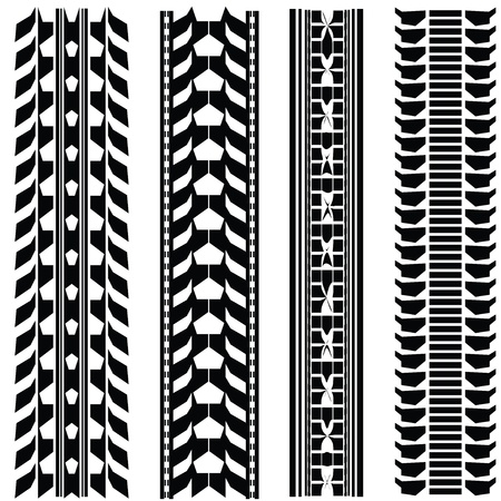 Print various automobile tyres Stock Vector - 9438172
