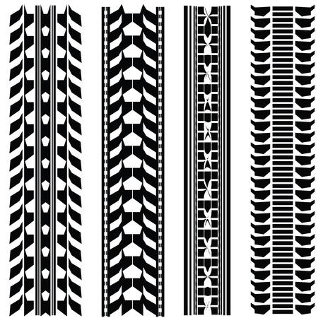 Print vaus automobile tyres Stock Vector - 9438172