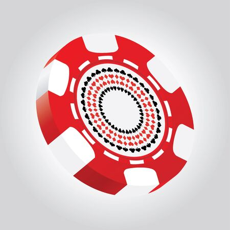 special 3d poker chip Vector