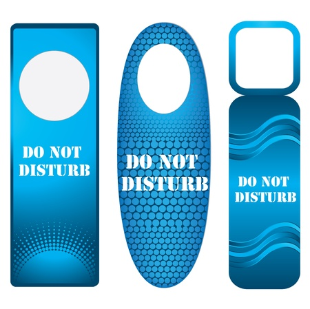 blue door knob or hanger sign - do not disturb Vector