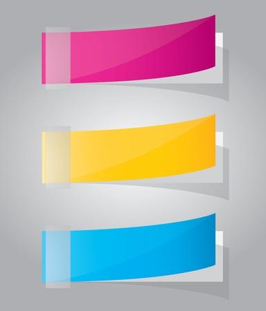 Multicolored stickers. Vector Vector