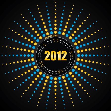 Calendar for 2012. Vector. Vector