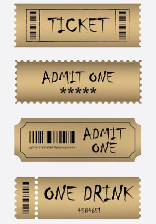 Vaus golden ticket set Stock Vector - 9535775