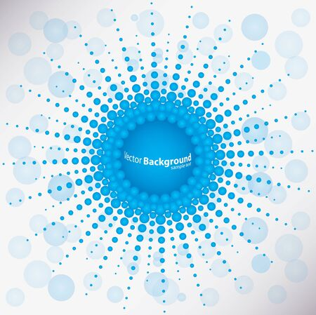special blue dotted background Vector