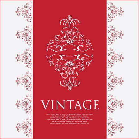 free place: Vintage frame with special design