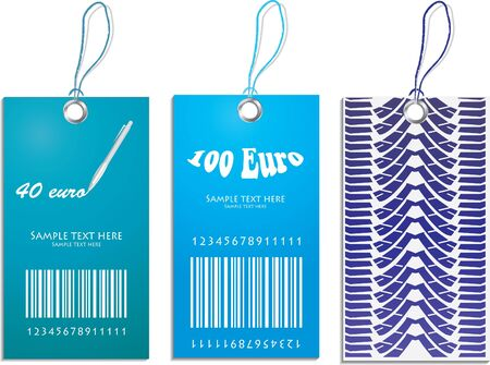 clothing label: set of price tags with tire design