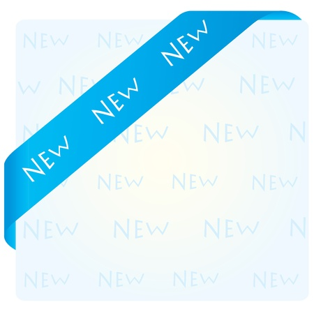 blue corner ribbon Stock Vector - 9629840