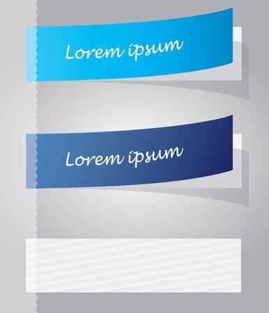 Multicolored stickers Vector