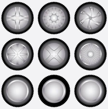 car wheels set Stock Vector - 9680154