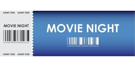 besondere Blue Movie Ticket Vektorgrafik