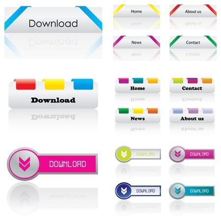 Premium web buttons Stock Vector - 9775631