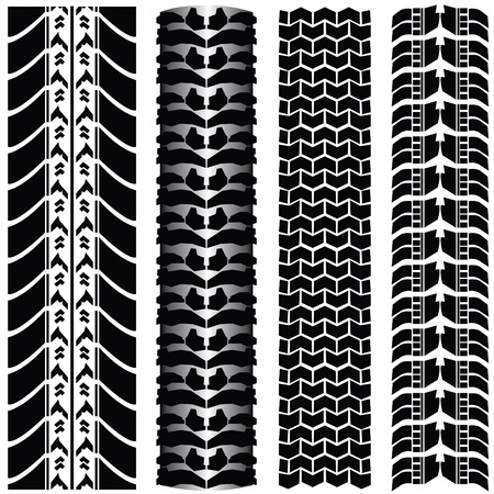 tire tracks Stock Vector - 9775624