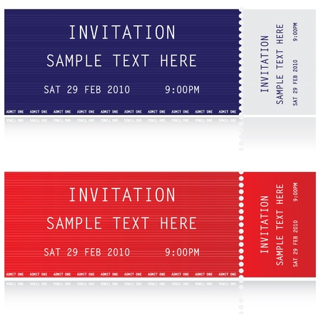 special event: Illustration of two tickets