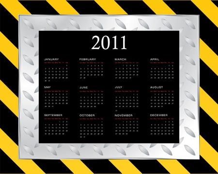Calendar Design - 2011 Stock Vector - 9775634