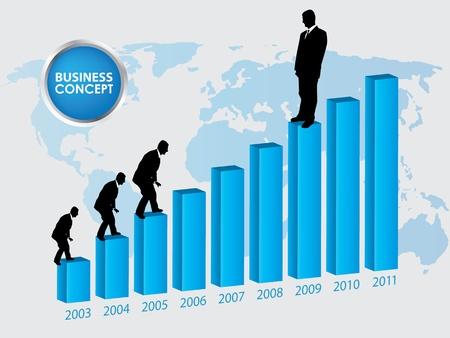Career growth, Business progress Vettoriali