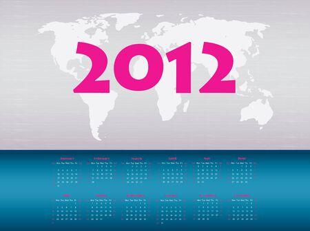 calendar 2012 Stock Vector - 9775660