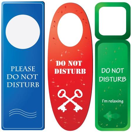 fasteners: Door hangers with Do not disturb