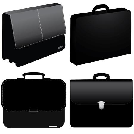 black business bag Vector