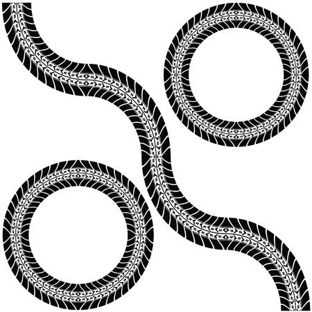 tire tracks: Imprimir varios neum�ticos de autom�viles