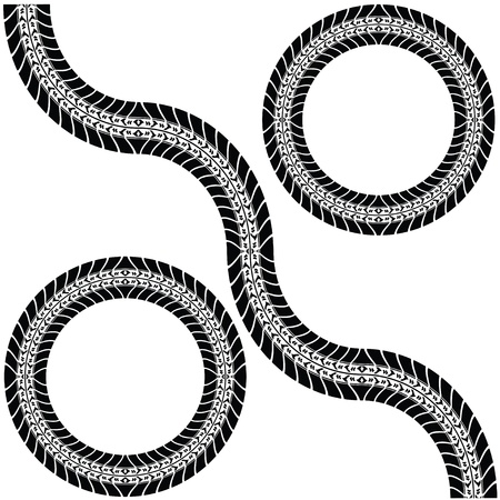 Print vaus automobile tyres Stock Vector - 9775641