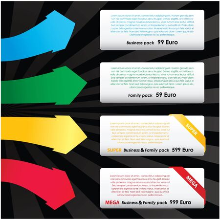 set of web elements Stock Vector - 9775652