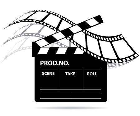 slate film: Film industry Illustration