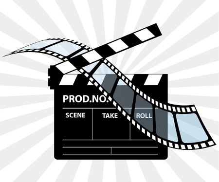 reel: Movie director clapperboard Illustration