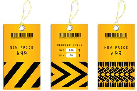 sales representative: price tags Illustration