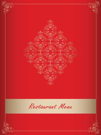 Special red restaurant menu design Vector