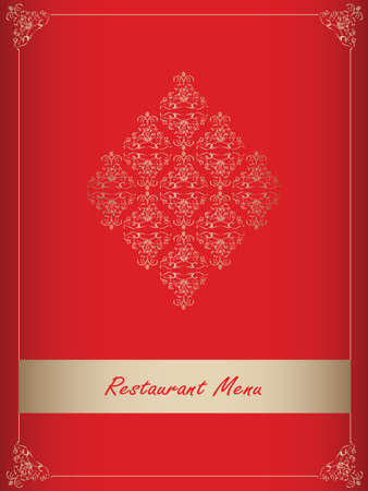 Special red restaurant menu design Vector