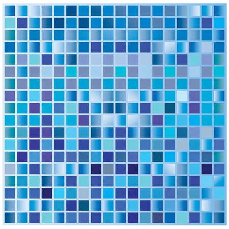 Abstract square pixel mosaic background Illustration