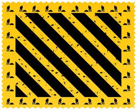 hazard stripes: A grungy and worn hazard stripes texture