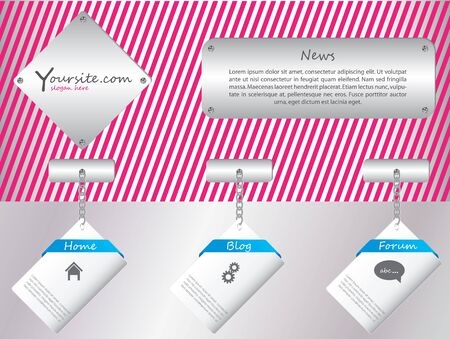 Hanging labels web template design Stock Vector - 9901424