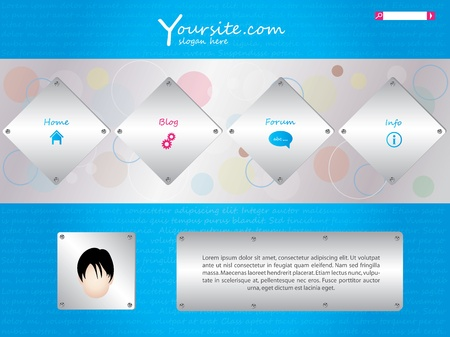website template in editable Vector