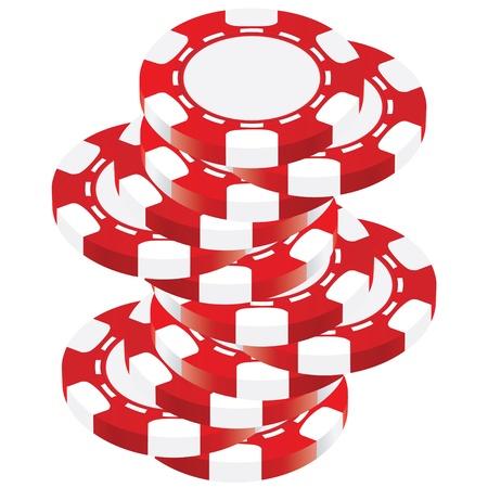 chips stack: Poker chip