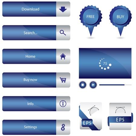 web side: elementos especiales de red azul de recogida