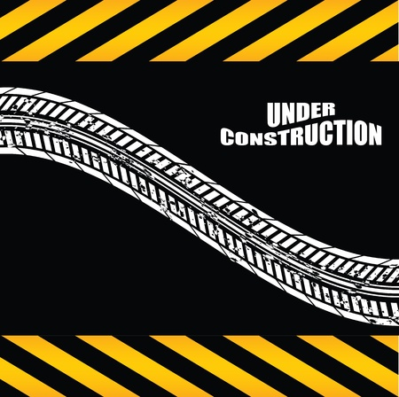 under construction background with tire design Stock Vector - 9934367