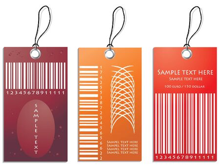 colored illustration of discount sale tag Vector