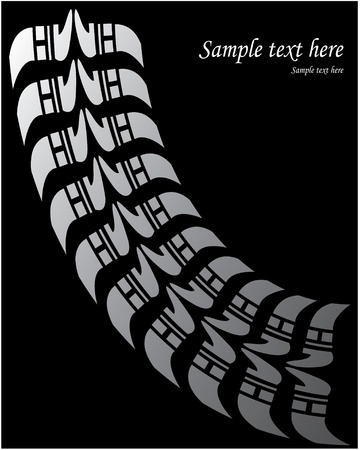 bicycle lane: background - special tire design Illustration