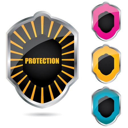 special shield emblems Stock Vector - 10037498