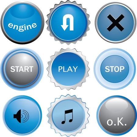 glossy buttons Stock Vector - 10175447