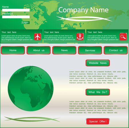 Green web site design template Stock Vector - 10175446