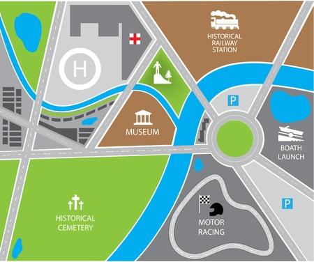 infinity road: vector city map Illustration