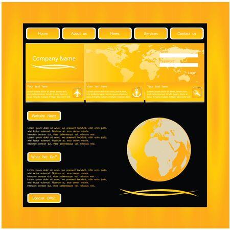 Website template Stock Vector - 10251120