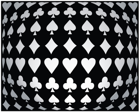 Black-white seamless poker background Stock Vector - 10316317