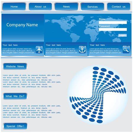 vector web template - blue vector Stock Vector - 10316329