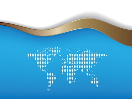 special blue background with map Vector