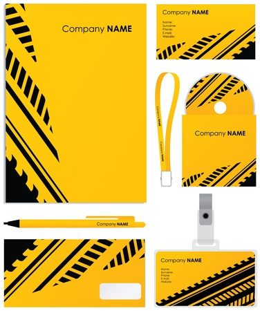 Template background, blank, card, cd, note-paper, cover and pen Vector