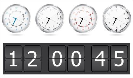 Clocks set Vector