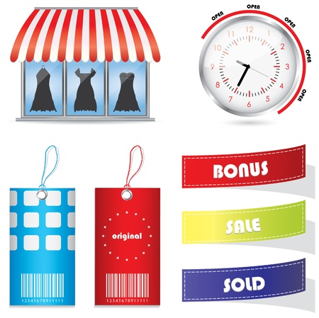 sold small: special advertising elements Illustration